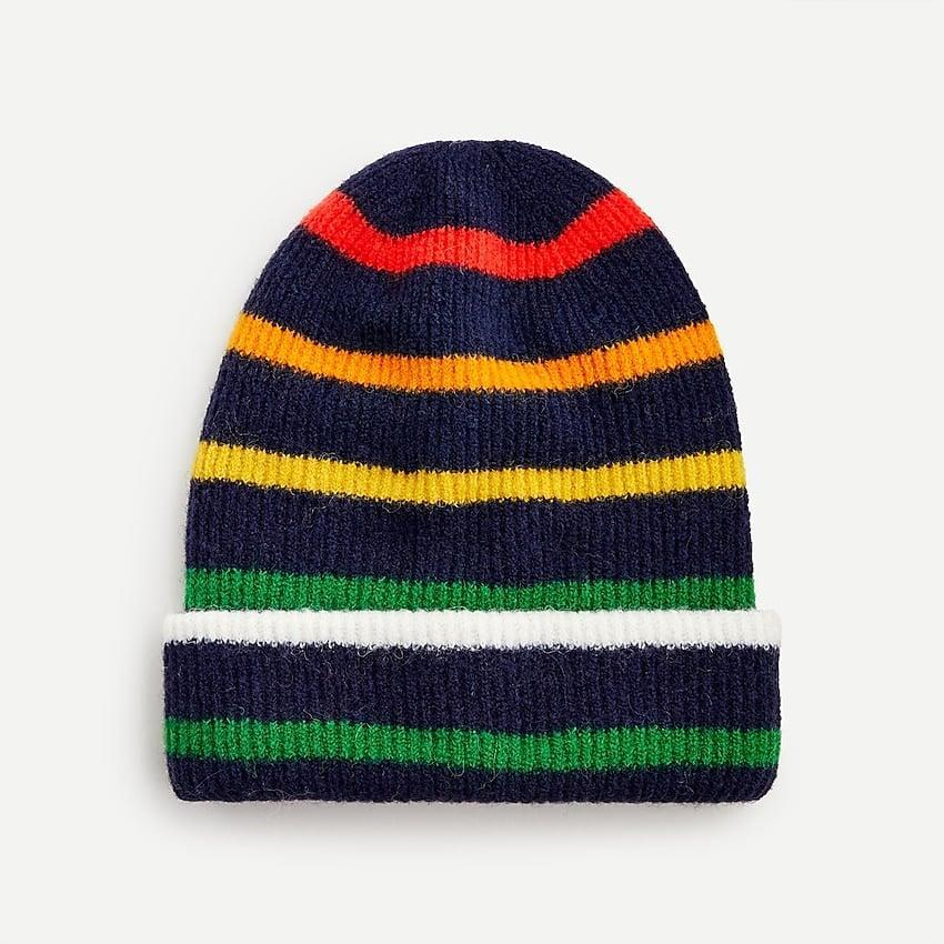 <p>We love all the colors in this <span>J.Crew Ribbed Beanie in Supersoft Yarn</span> ($17, originally $40).</p>