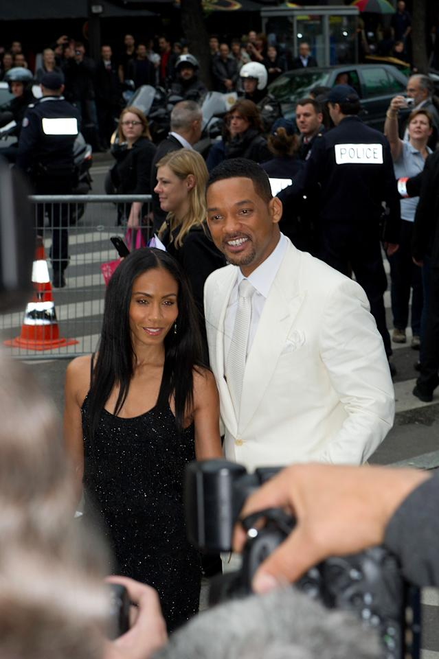 PARIS, FRANCE - MAY 11: Will Smith and Jada Pinkett Smith arrive to the 'Men In Black 3' European Premiere at Le Grand Rex on May 11, 2012 in Paris, France. (Photo by Kristy Sparow/Getty Images)