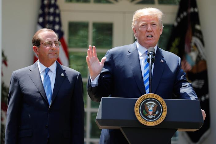 Donald Trump Alex Azar