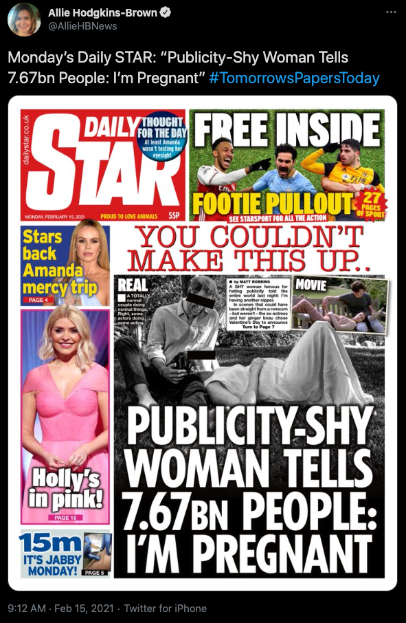 The Daily Star's cover has been slammed online. Photo: Twitter
