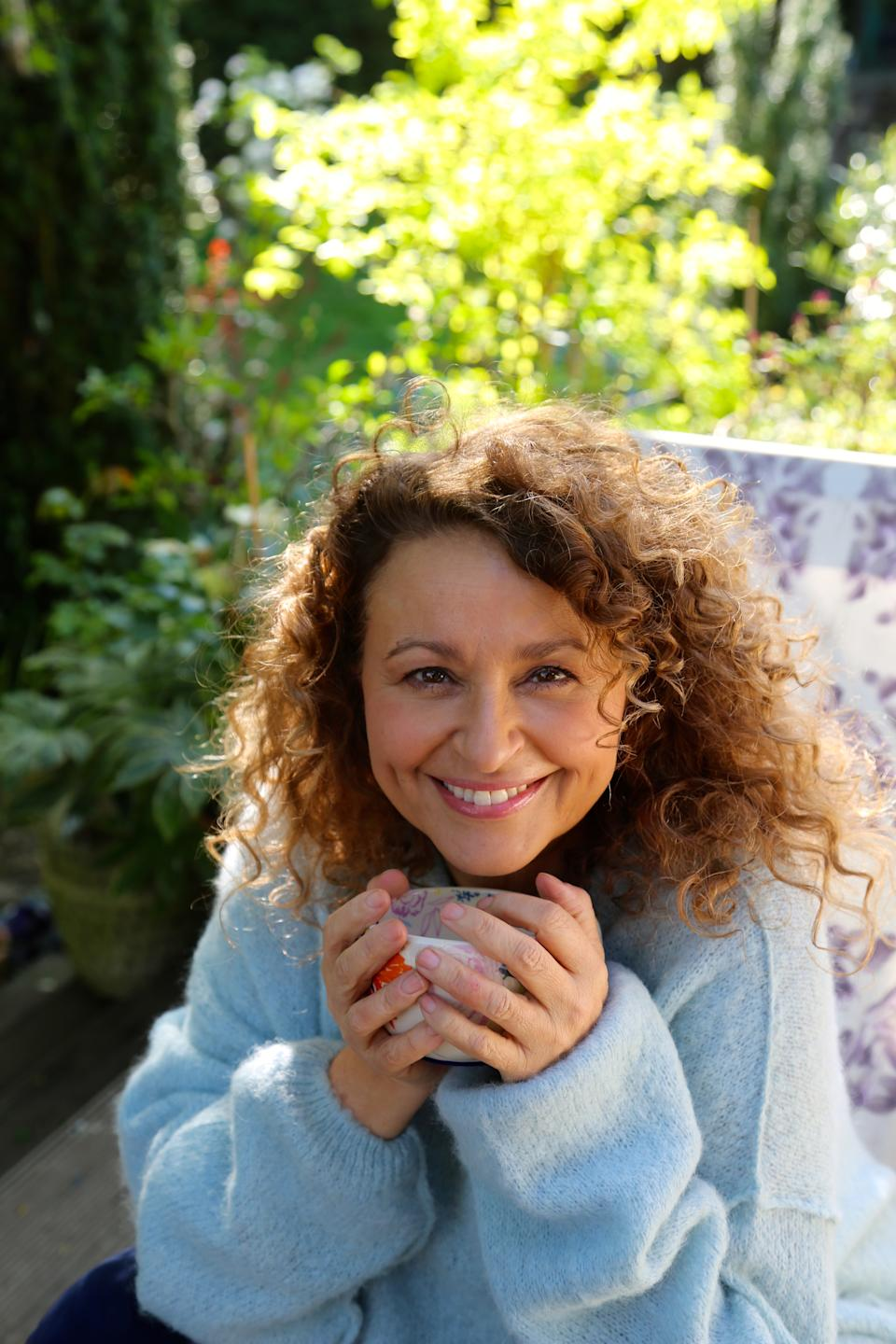 Nadia Sawalha lives next to her parents but is keeping her distance for the sake of their health.