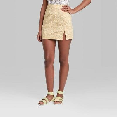 <p>This <span>Wild Fable High-Rise Notch Mini Skirt</span> ($17) is so playful and cute.</p>