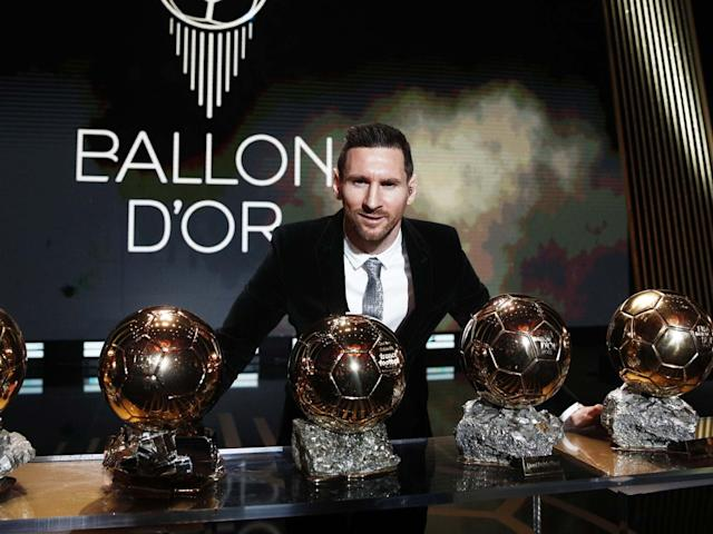 The Men's 2019 Ballon d'Or winner Barcelona forward Lionel Messi: EPA