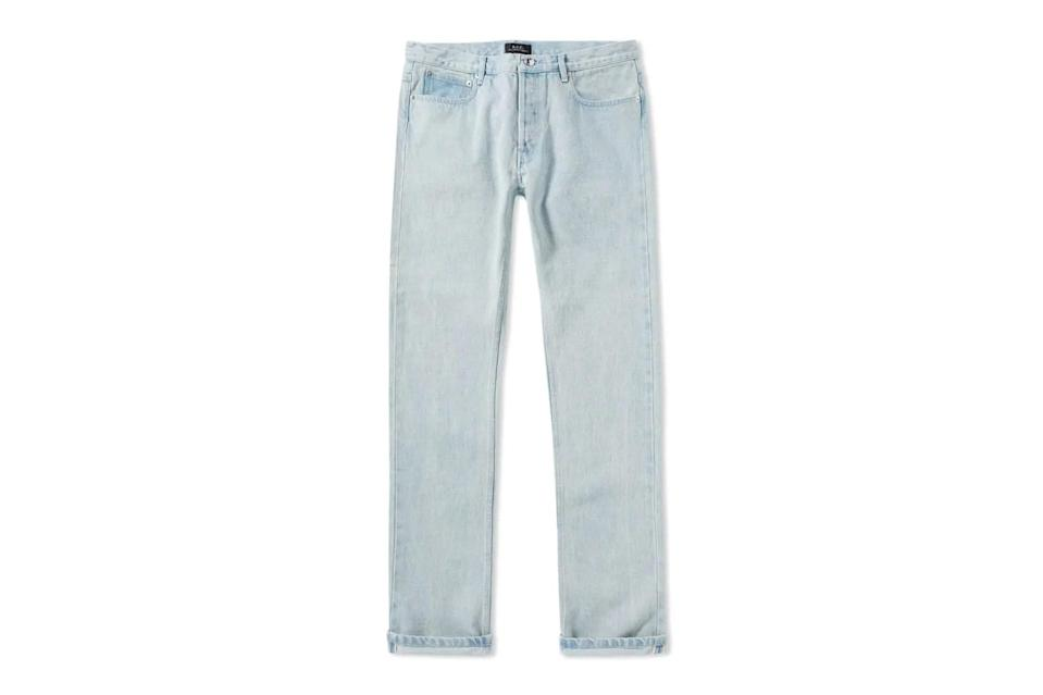 "$189, End Clothing. <a href=""https://www.endclothing.com/us/a-p-c-petit-new-standard-jean-cozzm-m09047-ial.html"" rel=""nofollow noopener"" target=""_blank"" data-ylk=""slk:Get it now!"" class=""link rapid-noclick-resp"">Get it now!</a>"