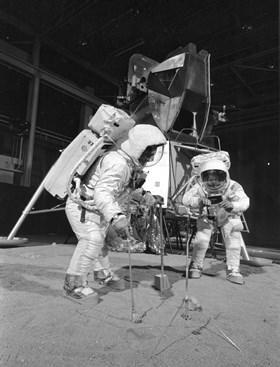 Apollo 11 crew during training exercise   gpn 2002 000032