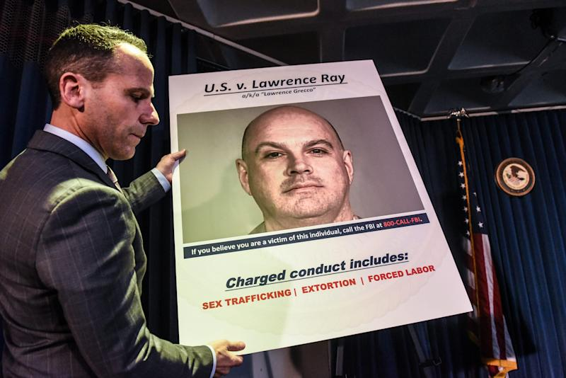 "U.S. Attorney for the Southern District of New York Geoffrey Berman announces the indictment against Lawrence Ray aka ""Lawrence Grecco"" on Feb. 11."