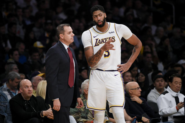 Magic Johnson had nothing to do with the arrival of Anthony Davis and Frank Vogel.(AP Photo/Kelvin Kuo)