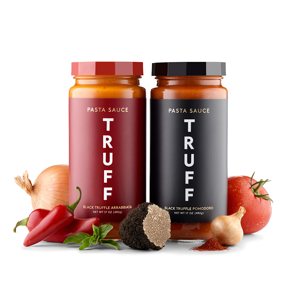 "<br><br><strong>TRUFF</strong> Black Truffle Pasta Sauce Duo, $, available at <a href=""https://go.skimresources.com/?id=30283X879131&url=https%3A%2F%2Ftruff.com%2Fcollections%2Fsauce%2Fproducts%2Fblack-truffle-pomodoro-starter-product"" rel=""nofollow noopener"" target=""_blank"" data-ylk=""slk:truff"" class=""link rapid-noclick-resp"">truff</a>"