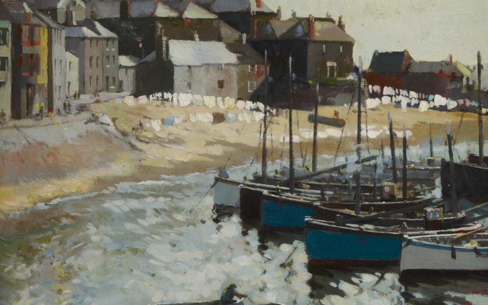 Before they were second homes: Washing Day at St Ives by Arthur Hayward (1889–1962) - Bridgeman Images
