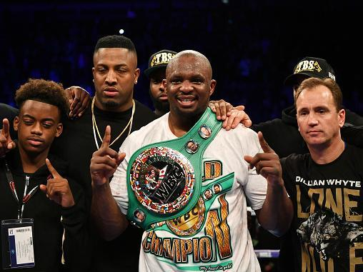 Whyte has found himself on the outside of the heavyweight title picture (Getty)
