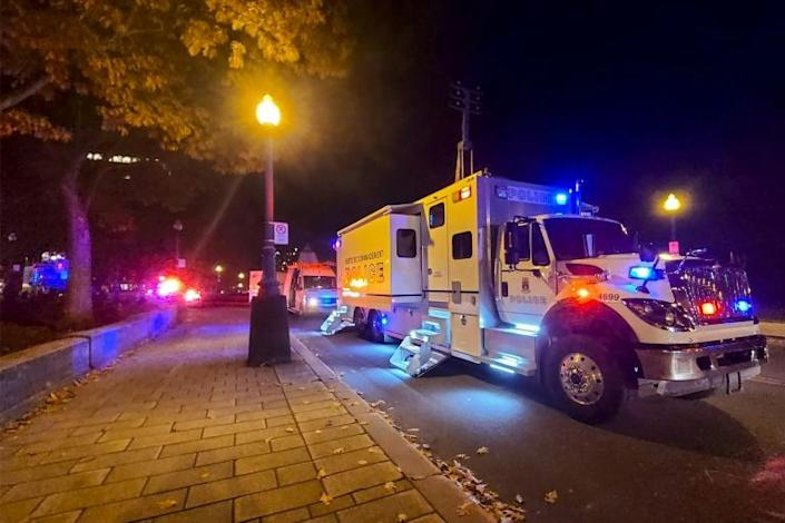 Quebec police asked city residents to stay inside with the doors locked while their investigation is underway