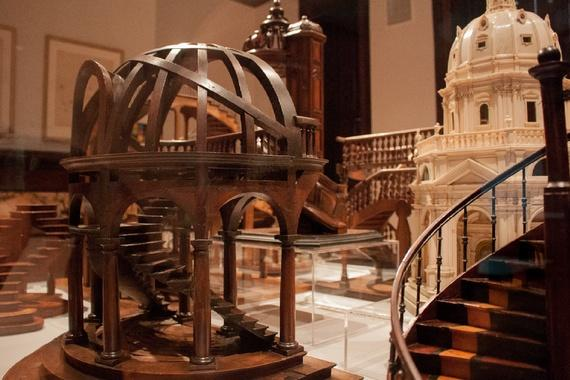 The museum's marvelous tiny staircases (Robinson Meyer/The Atlantic)
