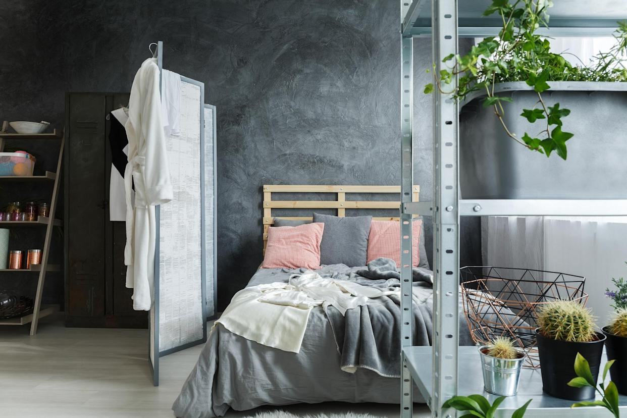 Consider a room divider to hide away a home office. (Getty Images)