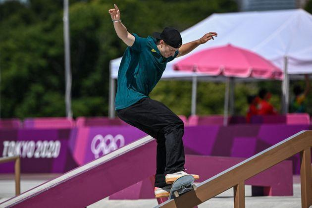 Australia's Shane O'Neill competes in the men's street prelims heat 2. (Photo: JEFF PACHOUD via Getty Images)