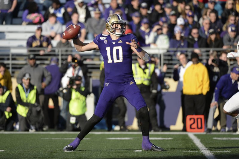 Washington QB Jacob Eason has been up and down this season but is one of many notable Pac-12 NFL draft prospects for 2020. (Getty Images)