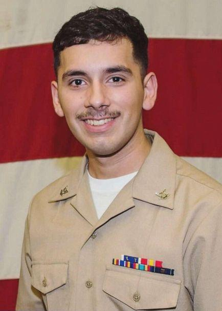 PHOTO: The U.S. Navy announced the identity of a sailor who was reported in a man overboard incident on board the USS Abraham Lincoln as Aviation Electronics Technician 2nd Class Slayton Saldana. (U.S. Navy)