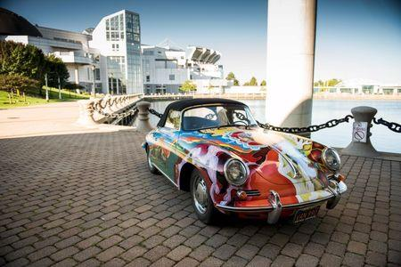 A 1965 Porsche 365C 1600 Cabriolet once owned by Janis Joplin is seen in an undated handout picture in Cleveland, Ohio