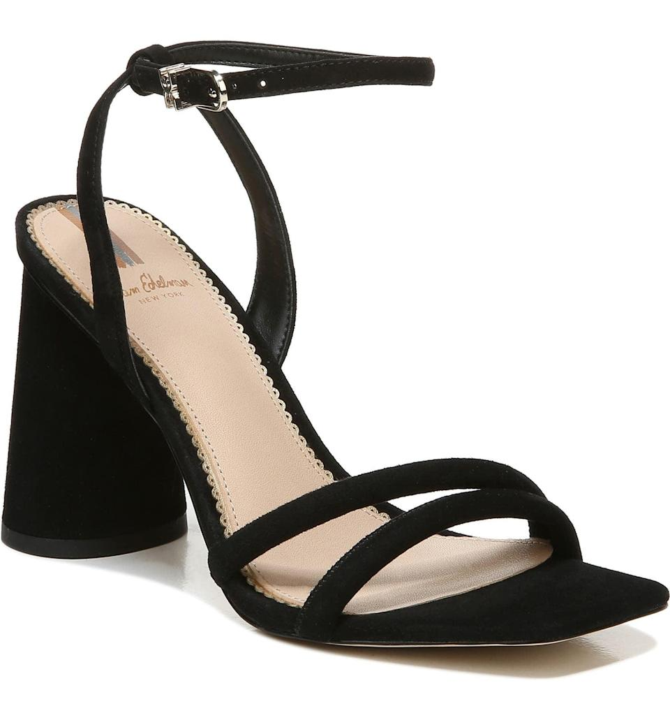 <p>If you're building out your heel collection, you need a reliable pair you can wear all the time. The <span>Sam Edelman Kia Ankle Strap Sandal</span> ($140) is comfortable, easy to walk in, and goes with everything.</p>