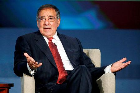 FILE PHOTO - Former U.S. Secretary of Defense Leon Panetta discusses his new book 'Worthy Fights' at George Washington University in Washington October 14, 2014.  REUTERS/Jonathan Ernst/File Photo