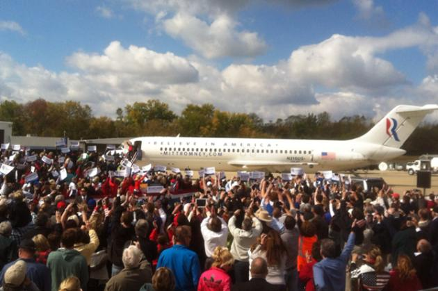 Paul Ryan arrives in Cincinnati for quick rally at airport - @Chris_Moody, via Twitter