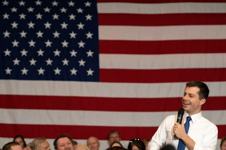 White House hopeful Pete Buttigieg, a former South Bend, Indiana mayor, has been barnstorming Iowa ahead of its first-in-the-nation Democratic nomination vote on February 3, 2020, while some rivals are in US President Donald Trump's impeachment trial (AFP Photo/kerem yucel)