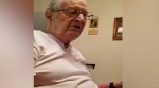 The man can't believe he is 98. Source: YouTube / Joe Vids
