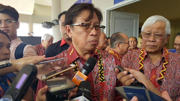 """Sarawak Chief Minister Datuk Patinggi Abang Johari Openg said that the Petroleum Development Act (PDA) 1974 and Territorial Sea Act (TSA) 2012 were """"not relevant"""" to his state's plan to appropriate all oil and gas activity in its territory. — Picture by Sulok Tawie"""