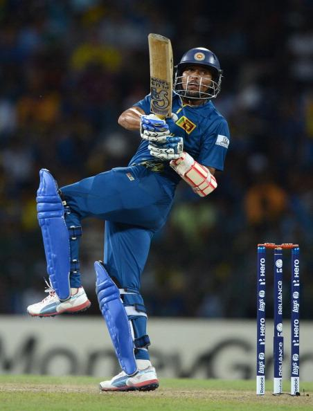 COLOMBO, SRI LANKA - OCTOBER 04:  Tillakaratne Dilshan of Sri Lanka bats during the ICC World Twenty20 2012 Semi Final between Sri Lanka and Pakistan at R. Premadasa Stadium on October 4, 2012 in Colombo, Sri Lanka.  (Photo by Gareth Copley/Getty Images)