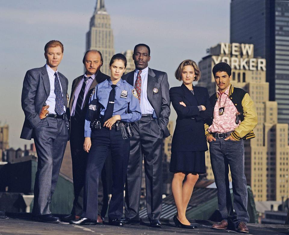 """<p>While the police procedural featured some footage of real <a href=""""https://www.imdb.com/title/tt0106079/trivia"""" rel=""""nofollow noopener"""" target=""""_blank"""" data-ylk=""""slk:New York locations"""" class=""""link rapid-noclick-resp"""">New York locations</a>, mostly during the opening-credits sequences, the vast majority of the show was shot on a set that was built for the 1969 film <em>Hello, Dolly! </em>in Los Angeles.</p>"""