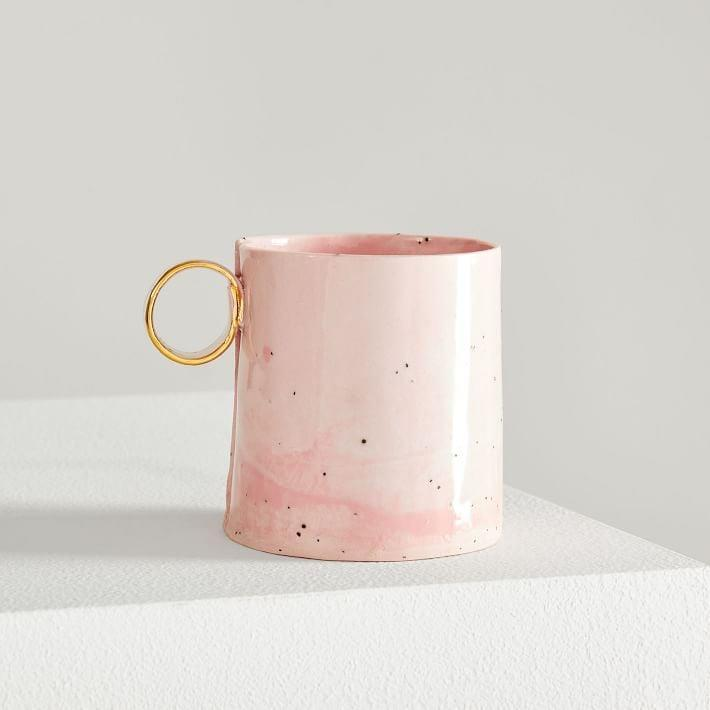<p>This fun textured <span>From Fran 8oz Mug</span> ($34) is handcrafted with slabs of porcelain and clay.</p>