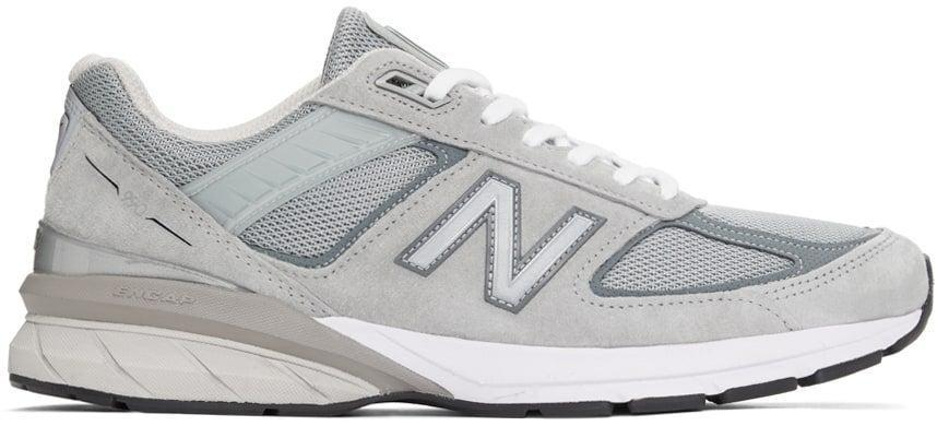 "<br><br><strong>New Balance</strong> Grey Made In US 990 v5 Sneakers, $, available at <a href=""https://go.skimresources.com/?id=30283X879131&url=https%3A%2F%2Fwww.ssense.com%2Fen-us%2Fmen%2Fproduct%2Fnew-balance%2Fgrey-made-in-us-990-v5-sneakers%2F6236471"" rel=""nofollow noopener"" target=""_blank"" data-ylk=""slk:SSENSE"" class=""link rapid-noclick-resp"">SSENSE</a>"