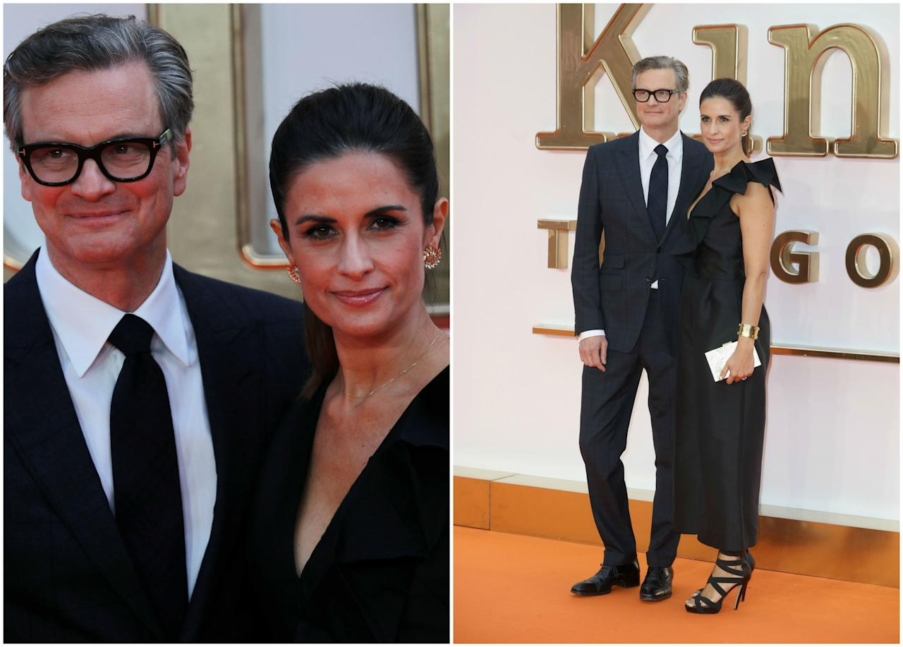 <p>Firth no podía faltar a su estreno, al que acudió acompañado de su mujer. Juntos forman uno de los matrimonios más sólidos de Hollywood (llevan casados 20 años). (Foto: Reuters / Chris Jackson / Getty Images). </p>