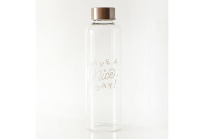 """A water bottle from Have a Nice Day is part of the Create & Cultivate pop-up experience. <span class=""""copyright"""">(Have a Nice Day)</span>"""
