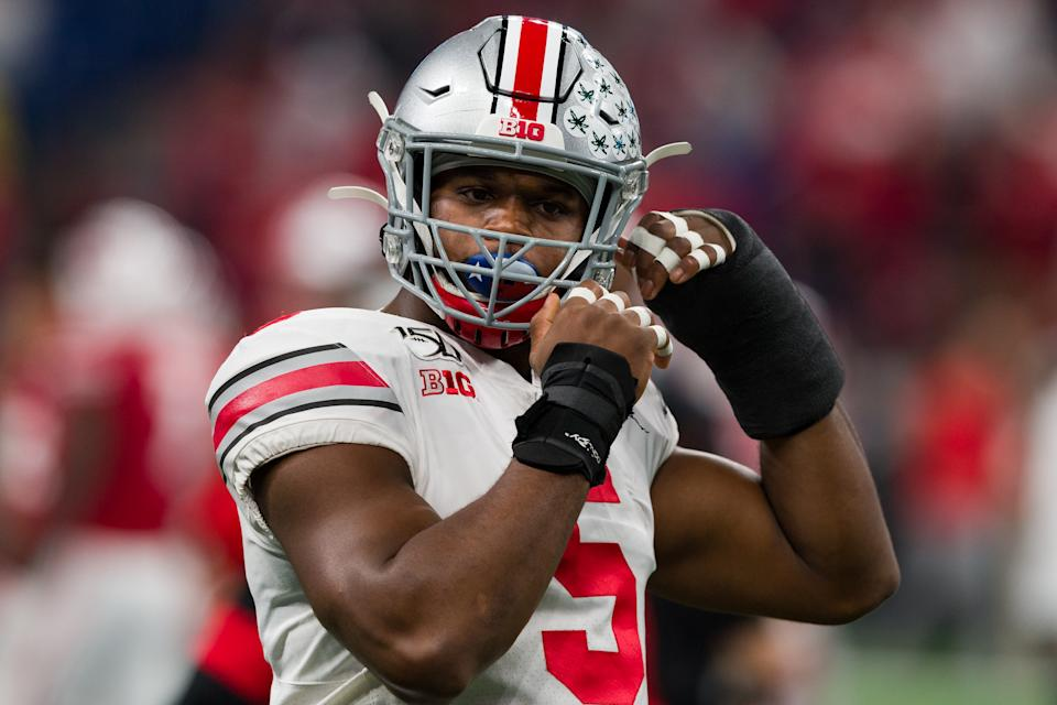 Ohio State Buckeyes linebacker Baron Browning could be readymade for his breakout season. (Photo by Zach Bolinger/Icon Sportswire via Getty Images)