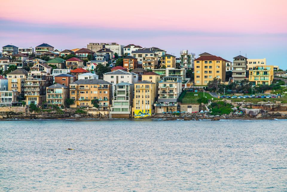 Pictured: Houses in Sydney where dwelling values rose by 0.1 per cent for the first time in two years. Image: Getty
