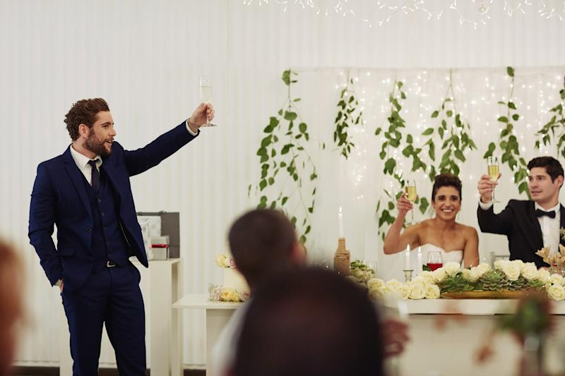 The bride revealed that her fiancé's best man wanted to use his speech as a time to tell everyone how much he didn't believe in marriage. Photo: Getty