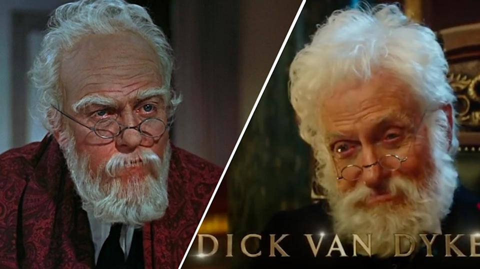Dick Van Dyke in in the original <i>Mary Poppins</i> and in <i>Mary Poppins Returns</i> (Disney)