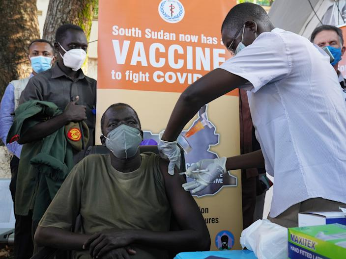 South Sudan has started vaccinating its population thanks to doses provided by Covax (Getty Images)