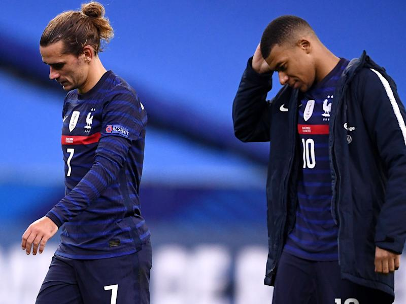 Griezmann and Mbappe for France (AFP via Getty Images)
