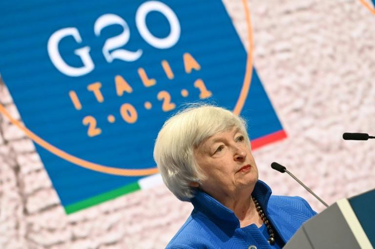 Treasury Secretary Janet Yellen has said the United States is 'very concerned' about Delta and other coronavirus variants