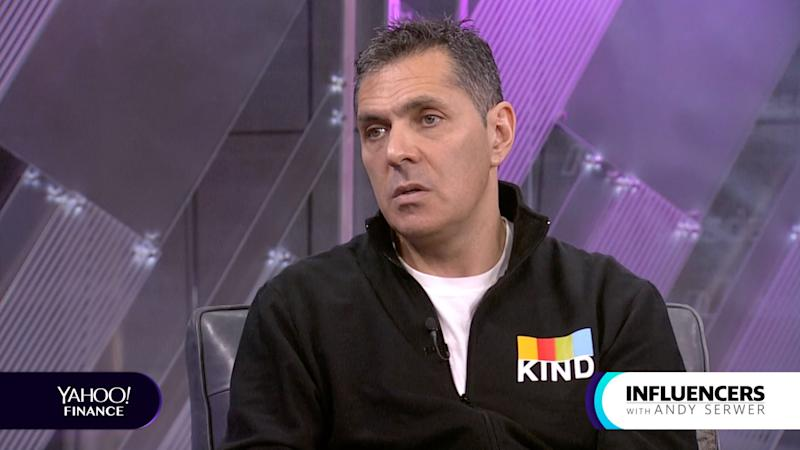 KIND CEO Daniel Lubetzky appears on Influencers with Andy Serwer.