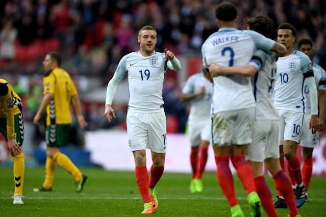 Brought on as a substitute, Vardy doubled England's lead over Lithuania