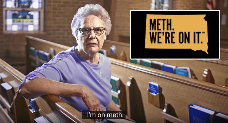 A PSA for an anti-drug campaign is being mocked online