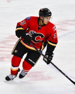 Sasha Yodashkin plugs in Flames superstar Johnny Gaudreau on Friday in an attractive home contests with the Rangers.
