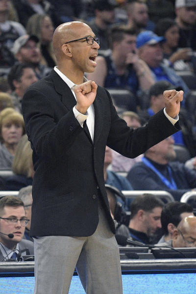 Phoenix Suns head coach Monty Williams calls out instructions during the first half of an NBA basketball game against the Orlando Magic Wednesday, Dec. 4, 2019, in Orlando, Fla. (AP Photo/Phelan M. Ebenhack)