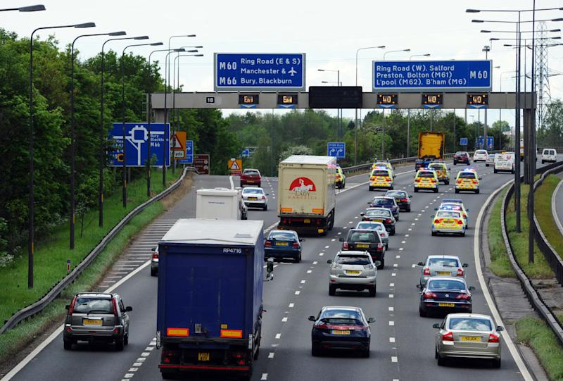 A woman gave birth to a baby boy on the M60 (Picture: AFP/Getty)