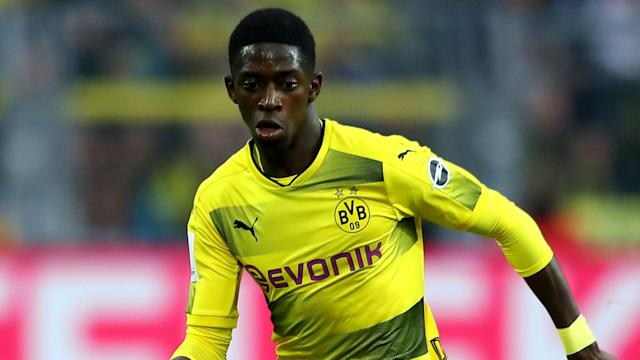 Ousmane Dembele's ability to play in various forward positions delights Barcelona boss Ernesto Valverde.