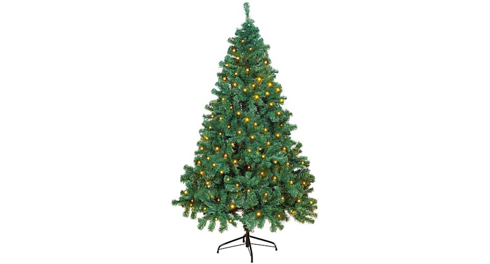6ft Artificial Christmas tree with lights