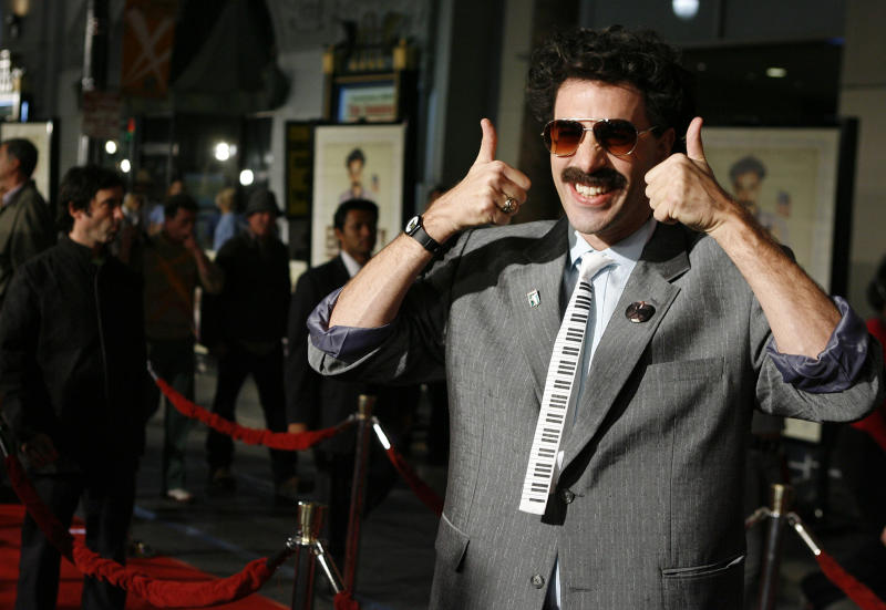 Sacha Baron Cohen who? Why can't he let the character go? (AP Photo/Matt Sayles)