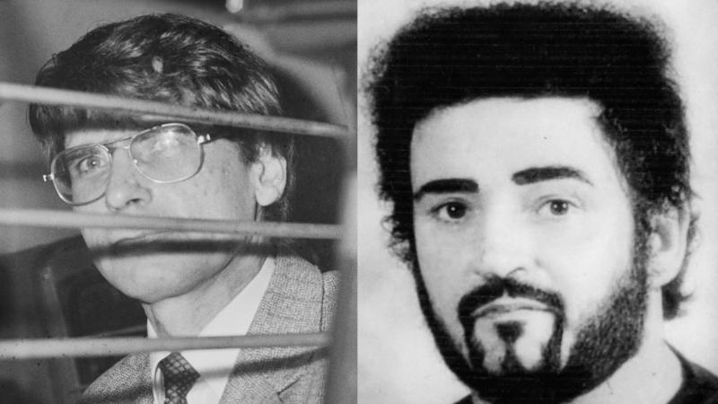 Serial killers Dennis Nilsen and Peter Sutcliffe. (Photo by: Harry Dempster/Daily Express/Hulton Archive/Universal History Archive/ Universal Images Group/Getty Images)